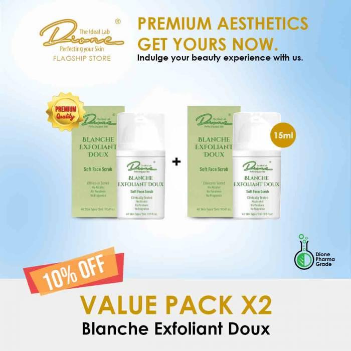 Blanche Exfoliant Doux, 15ml value pack