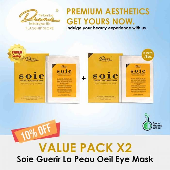 Soie Guerir La Peau Oeil Eye Mask, 3PCS/Box value pack