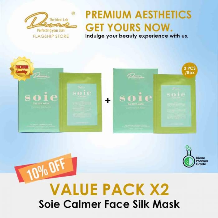 Soie Calmer Face Silk Mask, 3PCS/Box value pack