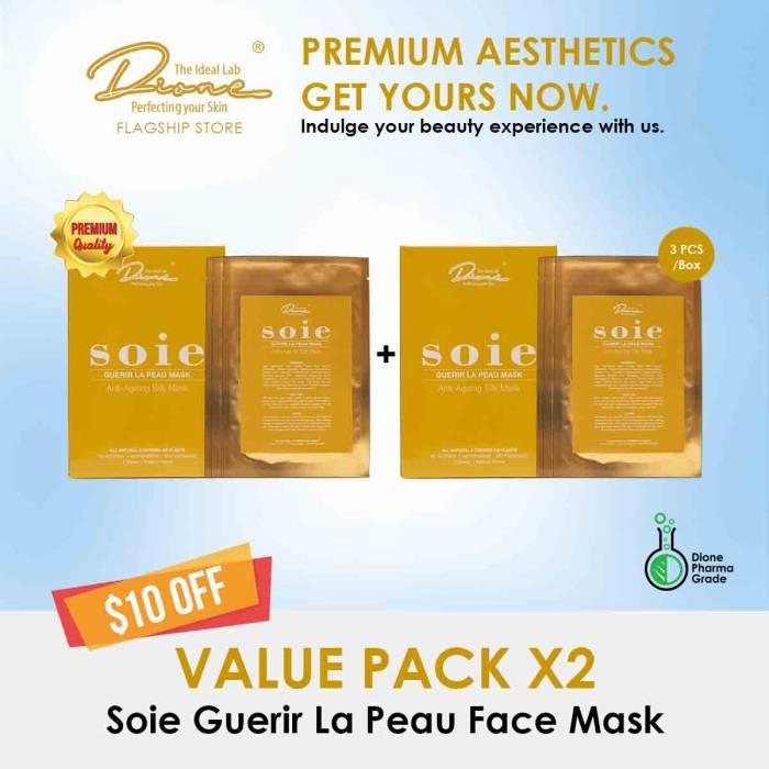 Soie Guerir La Peau Face Mask, 3PCS/Box value pack
