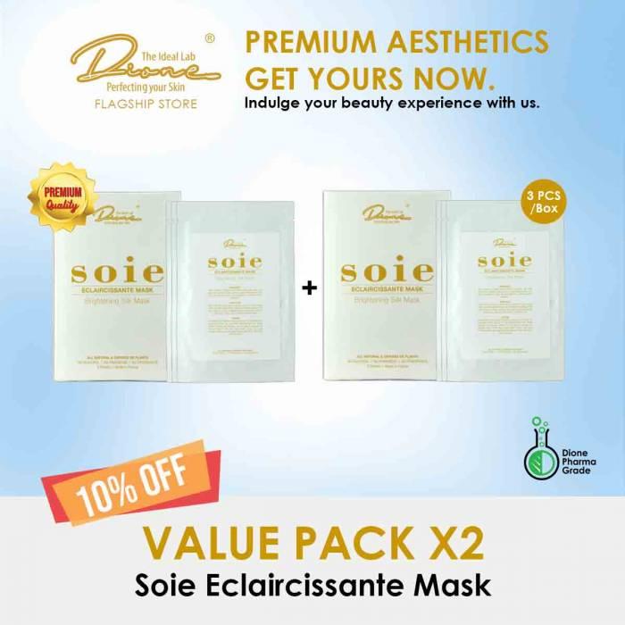 Soie Eclaircissante Mask, 3PCS/Box value pack