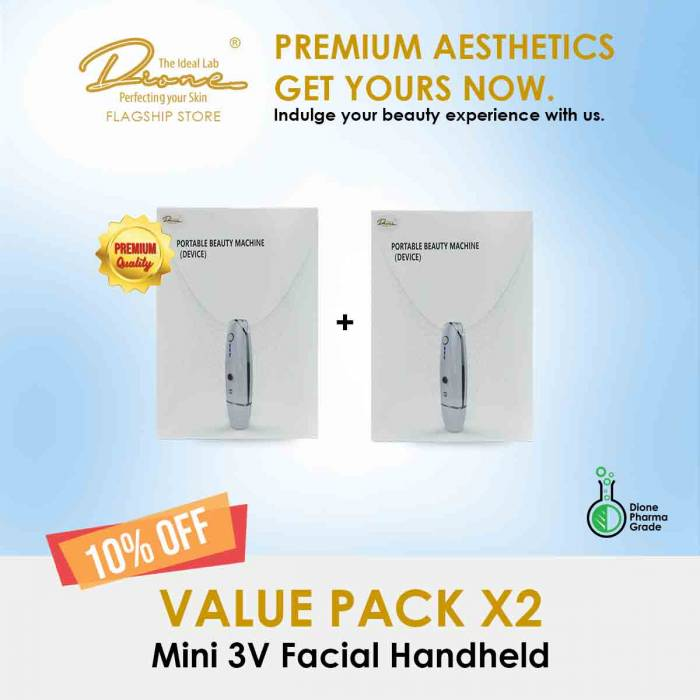 Mini 3V Facial Handheld Device value pack