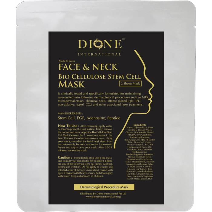 Bio Cellulose Stem Cell Mask( For Face & Neck)