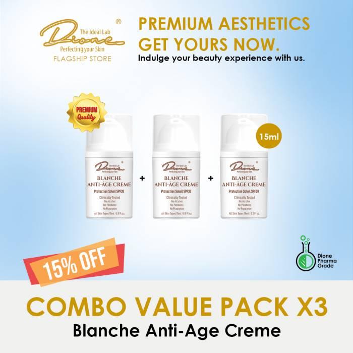 Blanche Anti-Age Crème,15ml Combo value pack