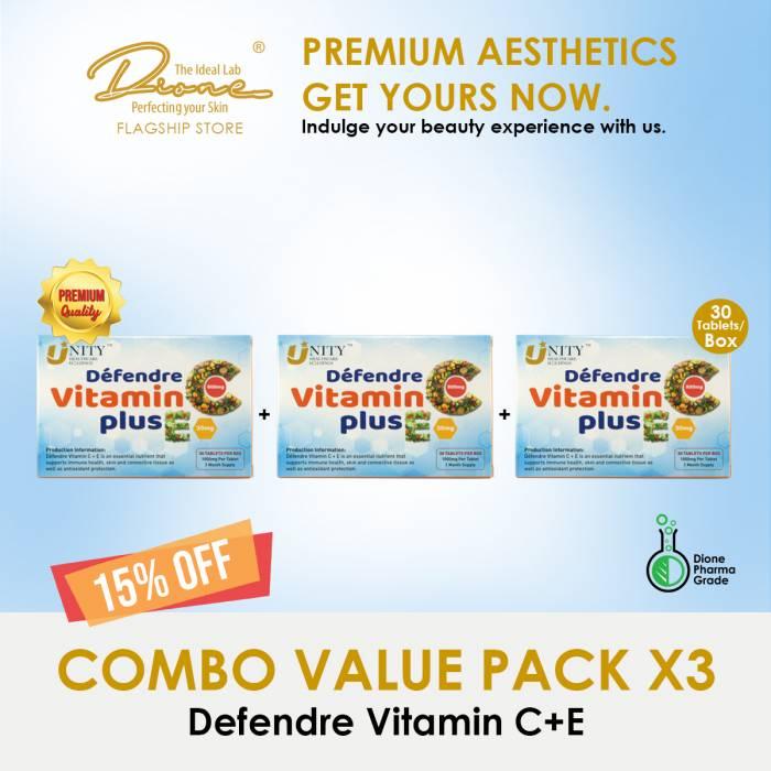 Defendre Vitamin C+E, 60Tablets/Box Combo value pack