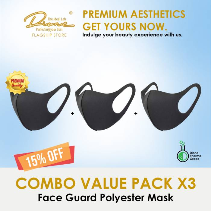 Face Guard Polyester Mask Combo value pack