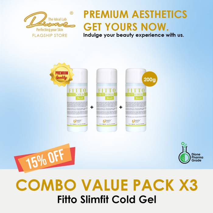 Fitto Slimfit Cold Gel 200g Combo value pack