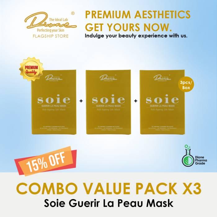 SOIE-Guerir La Peau Face Mask, 3PCS/Box Combo value pack