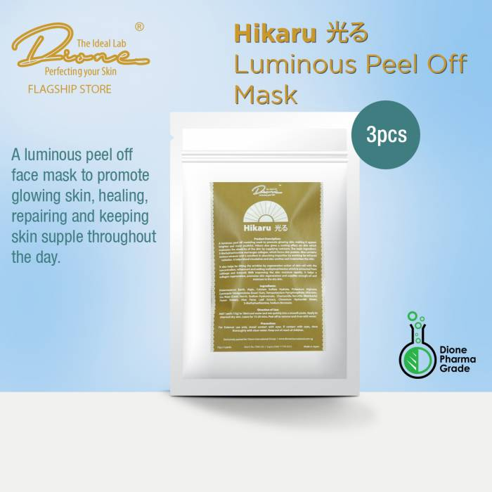 DTIL Hikaru Peel Off Mask, 3Pcs/Pack